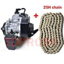 47CC 49CC 2-STROKE ENGINE MOTOR POCKET MINI BIKE SCOOTER ATV + 25H 136L Chain