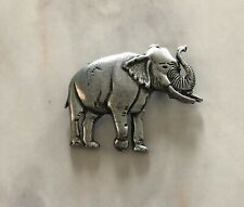 Rare Vintage New African Asian Elephant Brooch Pin Breastpin Lapel Hat Vest