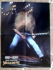 poster affiche revue magazine français Rock MEGADETH 56x42cm