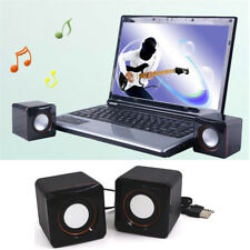 3.5mm MP3 Music Player For PC USB Cube Shape Mini Speaker Portable Desktop HOT