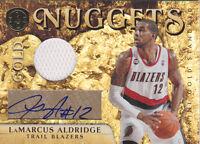 2010-11 Panini Gold Standard Nuggets LaMarcus Aldridge #/25 AUTO Jersey