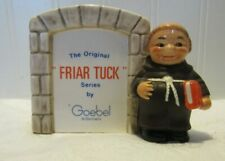Goebel Friar Tuck Monk Display Plaque Red Bible West Germany Original Series P15