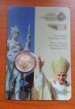 2 euros Saint Marin 2011 visite pastorale du Saint Pere Benoit XVI Coincard