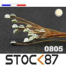C155# LED CMS pré-câblé 0805 blanc chaud fil émaillé 5 à 20pcs - warm white LED