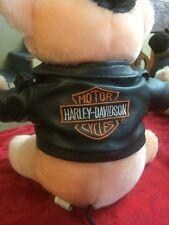 Harley Davidson Stuffed Hog Leather Jacket Full Zip Euc