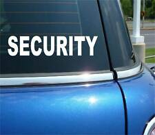 SECURITY STAFF OFFICE GUARD FUNNY DECAL STICKER ART CAR WALL