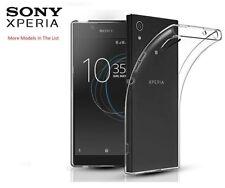 Ultra Slim Clear Gel TPU Case Cover for Sony Xperia L1 XA1 XA2 XZ XZ1 compact X