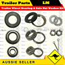 Wheel Bearing & Axle Nut Washer Kit Suits HOLDEN (LM) Pair Marine Boat Trailer