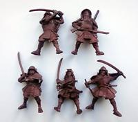 Samurai 54 mm 1/32 - 5 Fantasy Figures Tehnolog Fantasy Battles Russian Toy