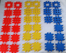 "Lot of 35 Little Tikes Wee Waffle Blocks 4"" Size Assorted Colors"
