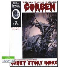 Corben Index 1 Short Story Index Sebastian Otten Sekundärliteratur HORROR COMIC