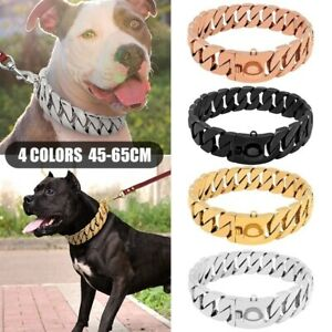 Large Dog Chains Stainless Steel Choker Heavy Duty Pet Show Collar For Training