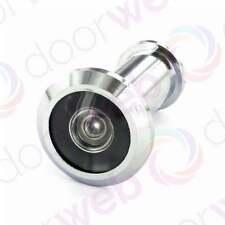 Security Door Spy Peep Hole Viewer 180° Chrome Silver Wood Adjustable Glass Lens