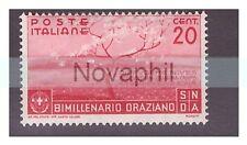 REGNO 1936  -  ORAZIO   CENTESIMI  20   NUOVO  **