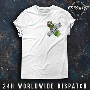 Rick And Morty T Shirt Pickle Rick Pocket Logo Schwifty Mr Meeseeks