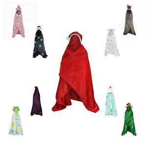 Novelty SweatShirt Children Animal Hooded Xmas Blanket Kids Wearable Warm Throw