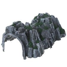 17.8cm Plastic Track Train Fake Model Cave Rockery Railway Tunnel Scenery Layout
