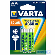 VARTA AA Rechargeable SOLAR GARDEN LIGHTS Batteries 800mAh Pack of 2
