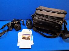 Minolta Maxxum 5000i Film 35mm Slr Camera 35-70mm Zoom & 70-210 Lenes Carry Bag