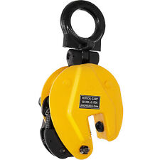 4400lbs Industrial Vertical Plate Lifting Clamp Stable 0-1inch Safe Opening