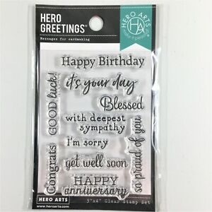 Hero Arts Greetings Occasions Clear Stamp Set Phrases Sayings Messages Words