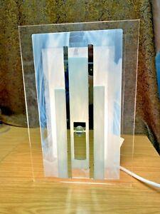 Stunning Artist Jane Wootton Design Glass & Mirror Glass Lamp on a Perspex Frame
