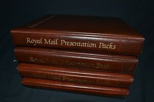 Royal Mail presentation pack albums x 4 in good condition all with 20 leaves.