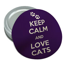 Keep Calm And Love Cats Paw Prints Round Rubber Non-Slip Jar Gripper Lid Opener