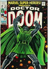 Marvel Super-Heroes #20 Facsimile Reprint Cover Only 1st Solo Doctor Doom