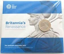2015 Royal Mint British Britannia Definitive BU £2 Two Pound Coin Pack Sealed