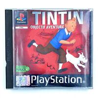 Jeu PS1 Tintin Objectif Aventure Complet en boite Sony Playstation 1 PAL FRA