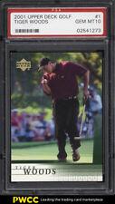 2001 Upper Deck Golf Tiger Woods ROOKIE RC #1 PSA 10 GEM MINT (PWCC)