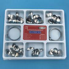 100 Pcs Dental Matrix Sectional Contoured Metal Matrices No.1.398lmws 35um Hard