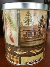 Decorative Tin - Wilderness Lodge Design - Hunting Cabin, Nature, Fishing #09657