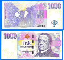 Czech Republic 1000 Korun 2008 Tcheque Free Shipping Worldwide