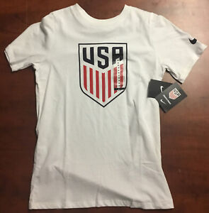 Nike USA Soccer T-Shirt White NWT Size Youth Medium