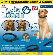 Lucky Leash 2n1 Retractable Leash & Collar- Large/X-Large fits dogs 36-80 lbs