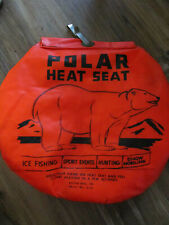 Vtg Kolpin Polar Heat Seat Orange Hunting Camping Fishing Outdoor Warm Sport