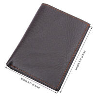 Men Leather Bifold Big Capacity Wallet Card Holder Wallet with Double ID Window