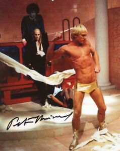 PETER HINWOOD SIGNED 8x10 PHOTO ROCKY HORROR PICTURE SHOW RARE BECKETT BAS