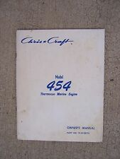 1975 Chris Craft Model 454 Thermocon Marine Engine Owner Manual Parts List  S