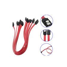 5X Serial ATA SATA 3 RAID Data HDD Hard Drive Disk Signal Cables Red 40CM EV