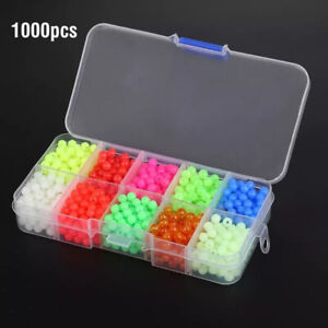 1000pcs/Box Fishing Beads Lure 5mm Luminous Fishing Floats Night Glow Beads