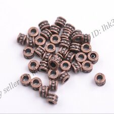 100PCS Tibetan silver big hole flowers Charms spacer beads Jewelry 6X4MM DB3086