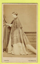 CDV - Lady  wearing Crinoline Dress & Shawl  - William Heath - Plymouth
