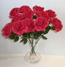 10 x englische Rose gefüllt  Purple Kunstblumen -Seidenblumen