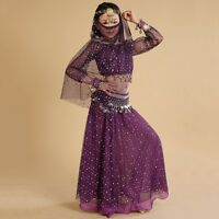 Girl Belly Dance Costume Indian Dancewear Kids Festival Outfit Charm Accessories