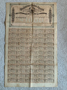 1864 CONFEDERATE STATES AMERICA $1000 CIVIL WAR BOND W/ COUPONS 2ND SERIES