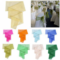 100pcs Organza Sashes Chair Cover Bows Sash Wider Fuller for Wedding Party Decor