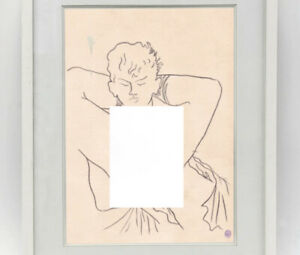 Jean Cocteau Drawing Male Figure Gay French Sailor Navy Sailors Marin